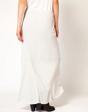 Image 2 ofJames Perse Bias Cut Midi Skirt with Fishtail Detail