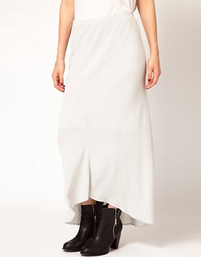 Image 4 ofJames Perse Bias Cut Midi Skirt with Fishtail Detail