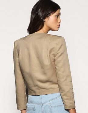Image 2 ofASOS Tailored Cropped Pleat Shoulder Blazer