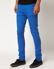 ASOS Super Skinny Jeans In Blue