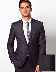 ASOS Slim Fit Suit Jacket in 100% Wool Birdseye