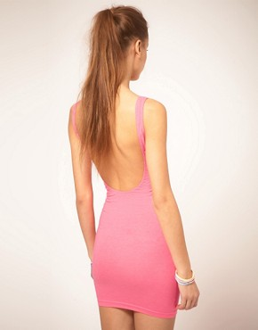 Image 2 ofAmerican Apparel Flouro Mini Vest Dress