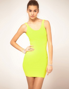 Image 1 ofAmerican Apparel Flouro Mini Vest Dress
