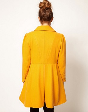 Image 2 ofASOS CURVE Exclusive Button Swing Coat