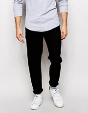 ASOS Black - Jeans stretti in fondo