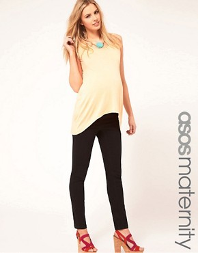 Image 1 ofASOS Maternity Exclusive Supersoft Ultra Skinny Jean in Black #11