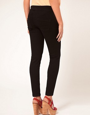 Image 2 ofASOS Maternity Exclusive Supersoft Ultra Skinny Jean in Black #11