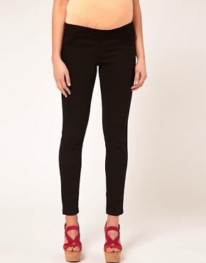 Image 4 ofASOS Maternity Exclusive Supersoft Ultra Skinny Jean in Black #11