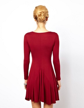 Image 2 ofASOS PETITE Exclusive Swing Dress With Full Skirt