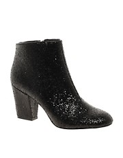 ASOS ALL THAT JAZZ Glitter Ankle Boots