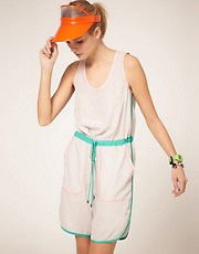 ASOS Playsuit With Long Runner Short
