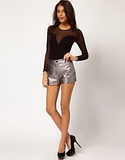 ASOS Shorts In Leather