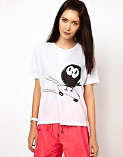 Lulu &amp; Co Tee with Skateboarding Owl