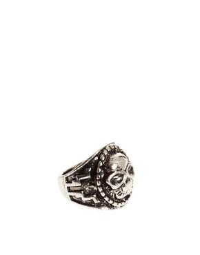 Image 1 ofASOS Large Skull Ring