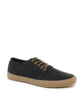 Image 1 ofASOS Plimsolls in Suede