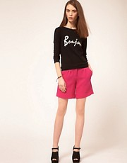Markus Lupfer Pink Wool Crepe Shorts