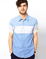 Scotch &amp; Soda Shirt With Contrast Panels
