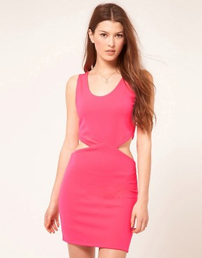 Image 1 ofPearl Neon Cut Out Dress