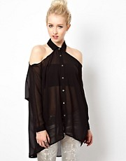 Kill City Cold Shoulder Shirt