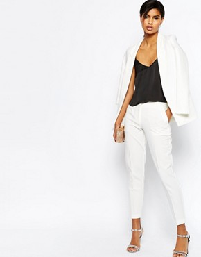 ASOS Ankle Grazer Cigarette Trousers in Crepe