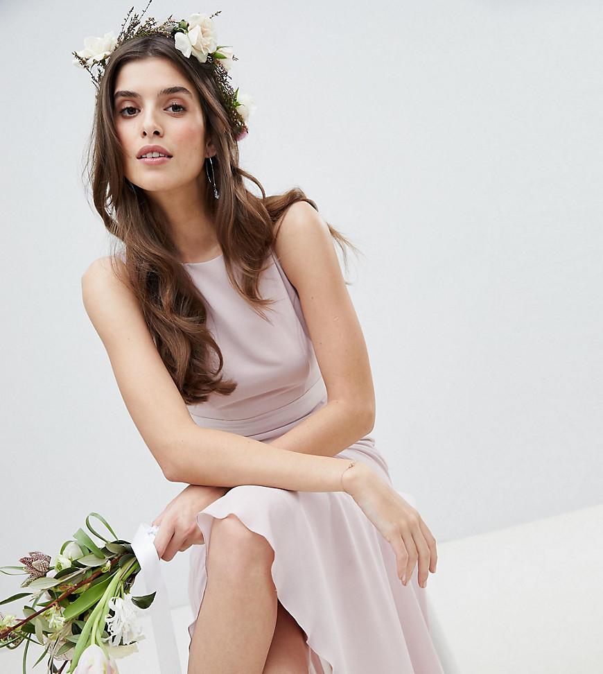 Imagen principal de producto de Vestido largo de dama de honor con bajo asimétrico de TFNC - TFNC
