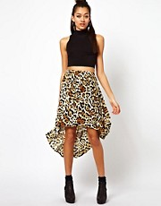 Motel Leopard Print Skirt