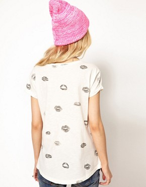 Image 2 ofRiver Island Lips T-Shirt