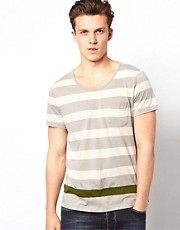 J Lindeberg T-Shirt With Bold Stripe