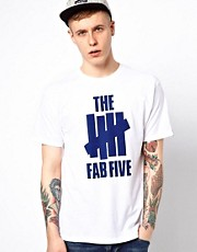 Undefeated T-Shirt Fab Five Print