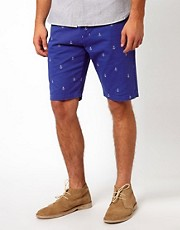 Vito Short With Anchor Embroidery