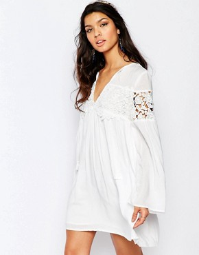 The Jetset Diaries Villa Dress in Ivory