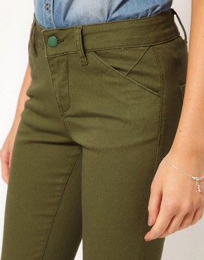 Image 3 ofASOS Skinny Trousers in Cotton Twill