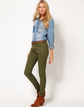 Image 1 ofASOS Skinny Trousers in Cotton Twill