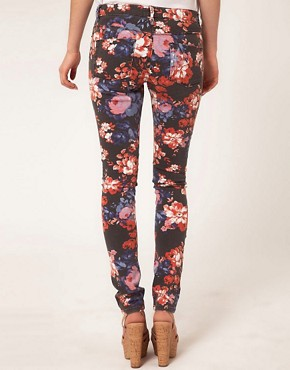 Image 2 ofASOS Skinny Jeans in Floral Print