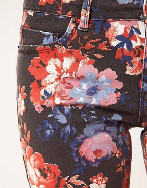 Image 3 ofASOS Skinny Jeans in Floral Print
