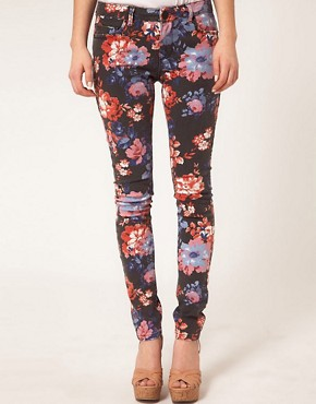 Image 4 ofASOS Skinny Jeans in Floral Print