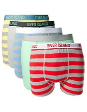 River Island 5 Pack Pastel Trunks