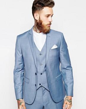 ASOS Slim Fit Suit Jacket In Blue