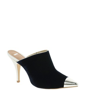 Image 1 ofASOS POCKET Pointed High Heels with Metal Toe Cap