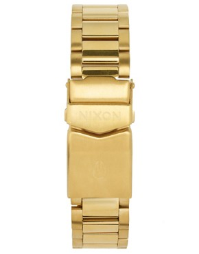 Image 2 ofNixon Gold Finish Square Face Bracelet Watch