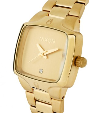 Image 4 ofNixon Gold Finish Square Face Bracelet Watch