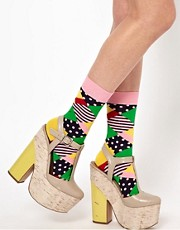 Calcetines con rombos multicolor de Happy Socks