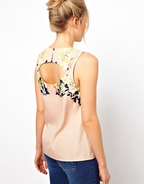 Image 2 ofOasis Photo Floral Shell Top