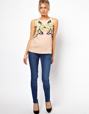Image 4 ofOasis Photo Floral Shell Top