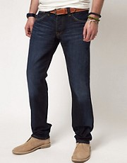 Vaqueros slim con lavado en azul puro Cane de Pepe Jeans