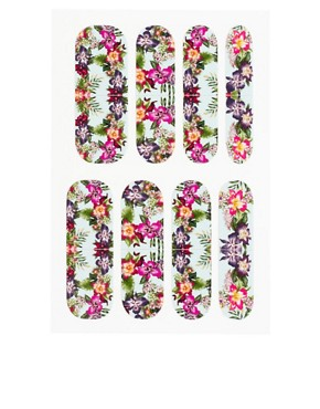 Image 2 ofNail Rock Wakiki Hawaiian Flowers Nail Wraps