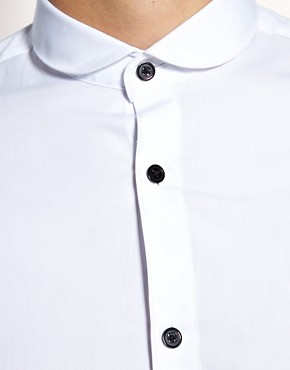 Image 3 ofASOS Smart Shirt With Contrast Button