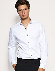 ASOS Smart Shirt With Contrast Button