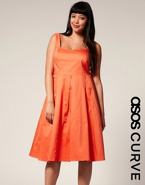 Image 1 ofASOS CURVE Vintage  50s Inspired Prom Dress