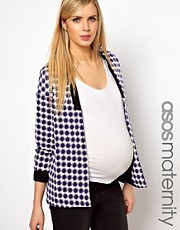ASOS Maternity Blazer In Geo With Contrast Lapel